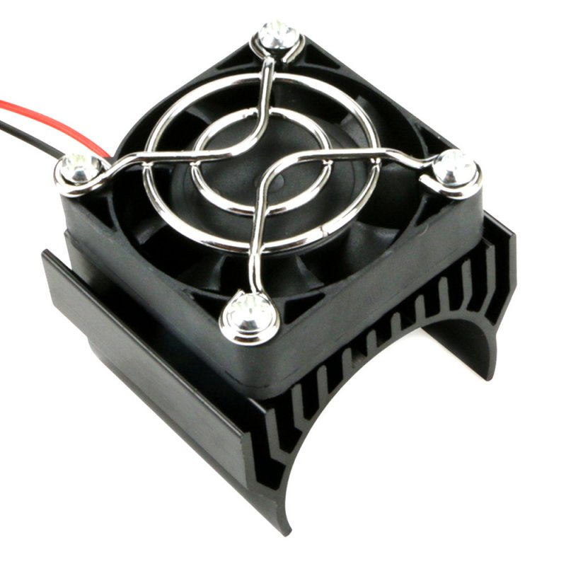 540/550/3650 Motor Heat Sink Cooler Heat Fin 36mm Diameter Radiator/Cooler with Ball Bearing Fan for RC Model Car black