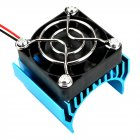 540/550/3650 Motor Heat Sink Cooler Heat Fin 36mm Diameter Radiator/Cooler with Ball Bearing Fan for RC Model Car blue