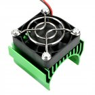 540/550/3650 Motor Heat Sink Cooler Heat Fin 36mm Diameter Radiator/Cooler with Ball Bearing Fan for RC Model Car green