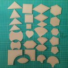54Pcs/Set DIY Patchwork Template  Hand Craft Sewing Patchwork Tool As shown