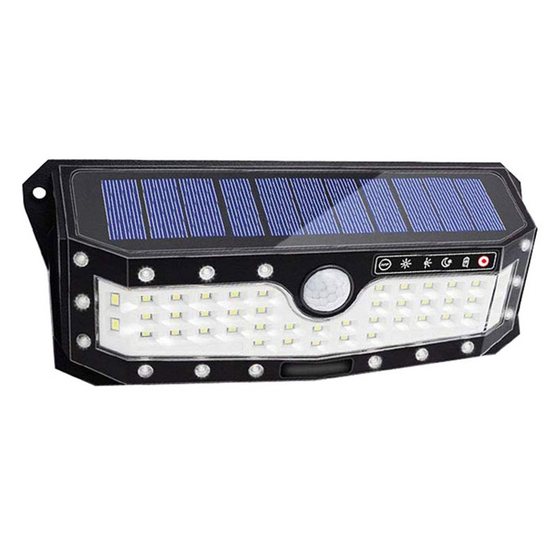 57LEDs Solar Lights Outdoor Motion Sensor USB Charge 3 Lighting Modes Wall Light White light_57LED without remote control