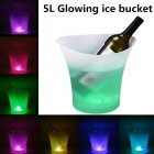 5L Glowing LED Ice Bucket 7 Color Champagne Wine Drinks Beer Ice Cooler for Restaurant Bars Nightclubs KTV Pub Party