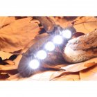 5LED/6LED Clip Cap Light Highlight Headlight Sports Hat Light Lamp Outdoor Sports Night Fishing Lights 6LED
