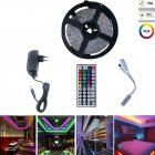 5M 150LEDs RGB Strip Lights+44Keys Remote Control+Adapter European regulations