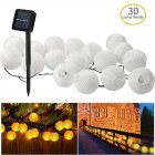 5M/6.5M 20LEDs/30LEDs Solar Powered Lantern Shape String Lights for Decor White lantern 6.5 meters 30 lights solar models