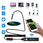 5M 8LED WiFi Borescope Endoscope Snake Inspection Camera for iPhone Android iOS black