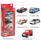 5PCS 1:64 Simulated Children Toy Multi-Style Taxiing Alloy Mini Car Model  C
