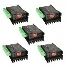 5PCS CNC Single Axis 4A TB6600 Stepper Motor Drivers Controller Black 5-piece set
