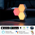 5PCS DIY Assembly Smart APP Control Night Light Home Decorative Wall Lamp USB interface