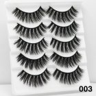 5Pairs 6D Mink Hair False Eyelashes Wispy Makeup Beauty Extension Tools 003