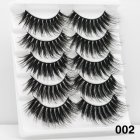 5Pairs 6D Mink Hair False Eyelashes Wispy Makeup Beauty Extension Tools 002