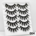 5Pairs 6D Mink Hair False Eyelashes Wispy Makeup Beauty Extension Tools 004