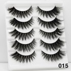 5Pairs 6D Mink Hair False Eyelashes Wispy Makeup Beauty Extension Tools 015
