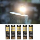 5Pcs/Set 6-LED Night Light  USB Power 1W 5V Touch Dimmer Warm White Light 5pcs/set