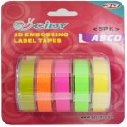 5Pcs/Set Adhesive  Tape  Set 3d Plastic 9mm Embossing Label Maker Waterproof Strong Adhensiveness 9mm (b combination)