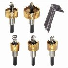 5Pcs Set High Speed Steel Hole Opener Drill Bit Set for Alloy Iron Plate 16 5 11 3CM Titanium plated high speed steel