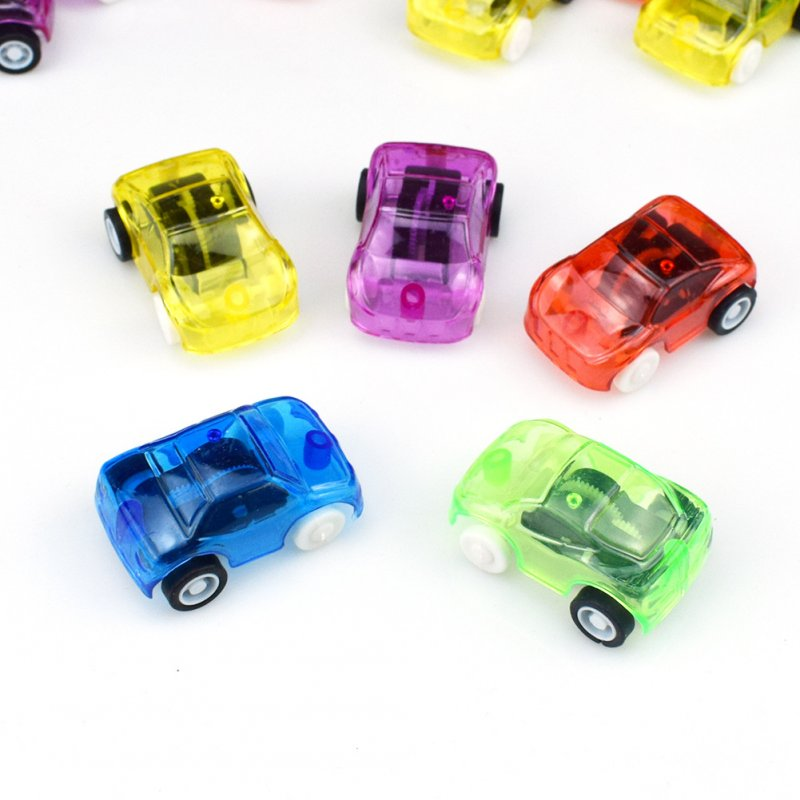 5Pcs Transparent Candy Color Pull Back Cars