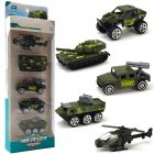 5Pcs Set Pull Back Car Mold Toys Alloy Military Vehicle Car Model Kids Children Car Playing Toys