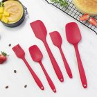 5Pcs/Set Silicone Scraper Cream Spatula Blade Brush Batter Mixing Baking Tool Red