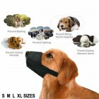 5Pcs/bag Dog Muzzle Bite-proof Black Adjustable Nylon Oxford Soft No Bark Chew Pet Supply black_number 3
