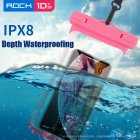 ROCK Swimming Bags Waterproof Bag Universal Underwater Pouch Phone Case for iPhone 8 7 6 Xiaomi Samsung Huawei Protection Pouch Pink
