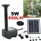 5W Solar Panel Powered Water Pump Garden Pool Pond Fish Aquarium Fountain DC35-1218