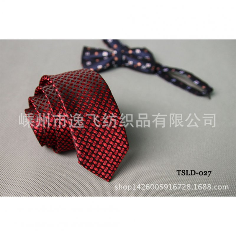 5cm Skinny Tie Classic Silk Solid Dot Narrow Slim Necktie Accessories Wedding Banquet Host Photo TSLD-027