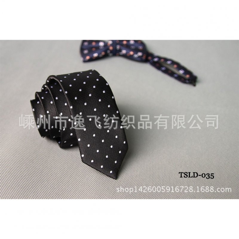 5cm Skinny Tie Classic Silk Solid Dot Narrow Slim Necktie Accessories Wedding Banquet Host Photo TSLD-035