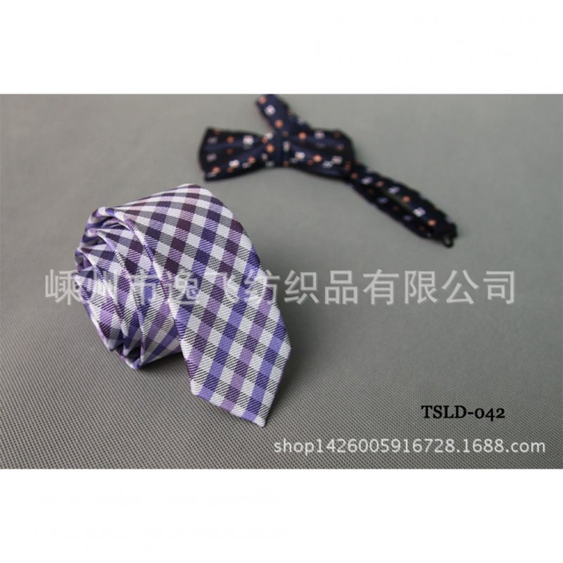 5cm Skinny Tie Classic Silk Solid Dot Narrow Slim Necktie Accessories Wedding Banquet Host Photo TSLD-042