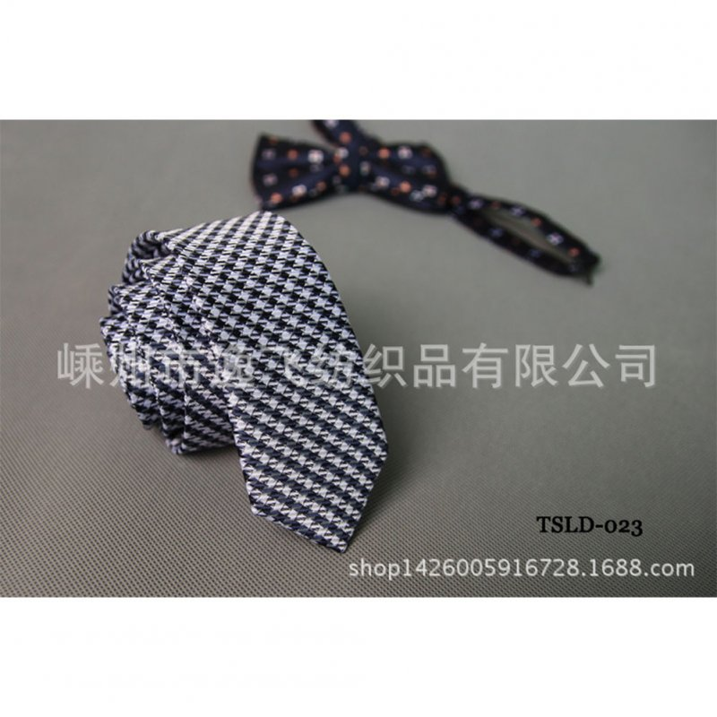5cm Skinny Tie Classic Silk Solid Dot Narrow Slim Necktie Accessories Wedding Banquet Host Photo TSLD-023