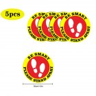 5pcs/10pcs Social Distancing Floor Decals For Floor Safety Notice Floor Marker BE SMART PLEASE STAND APART 5pcs