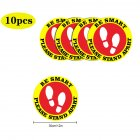 5pcs/10pcs Social Distancing Floor Decals For Floor Safety Notice Floor Marker BE SMART PLEASE STAND APART 10pcs