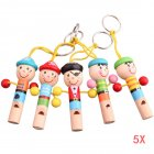 5pcs Boy Pirate Whistle Wooden Whistling Educational Toys Child Whistle Toys Child Gift Musical Instrument 43 S7JN