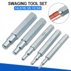 5pcs CT-193 Copper Pipe Tube Expander Stainless Steel Imperial Swaging Punch Tool Silver