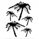5pcs/set Creative 3D Spider Decals Car Stickers Scratch Cover Car Styling Sticker