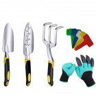 5pcs/set Garden  Tool  Set Hand Trowel Bonsai Shovel Rake Cultivator Weeder Tools With Silicone Handle 5-piece set