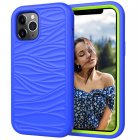 6 1  Shockproof Soft Silicone Case for iPhone 12 iPhone 12 Pro360 Silicone Protect Cover blue green