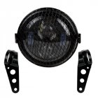 6.5 Inch Motorcycle LED Headlight HeadLamp Bulb With Grille Bracket 6.5 Inch_Four eyes