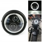 6 5 inches Motorcycle LED Headlight HeadLamp Bulb With Angel Ring for  Sportster Cafe Racer Bobber Iron 883 black