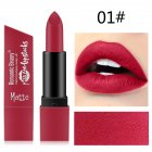 6 Color Matte Lipstick Sexy Shimmer Lipgloss Waterproof Long Lasting Diamond Party Lip Stick 01#