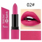 6 Color Matte Lipstick Sexy Shimmer Lipgloss Waterproof Long Lasting Diamond Party Lip Stick 02#