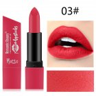 6 Color Matte Lipstick Sexy Shimmer Lipgloss Waterproof Long Lasting Diamond Party Lip Stick 03#