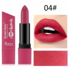 6 Color Matte Lipstick Sexy Shimmer Lipgloss Waterproof Long Lasting Diamond Party Lip Stick 04#