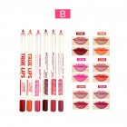 6 Colors Lip Liner Waterproof Long Lasting Lipstick Lipliner Pencil Pen B