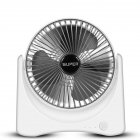 6 Inch Mini USB Rechargeable Fan Portable Mute Electric Fan for Dormitory Office Desktop fan rich silver