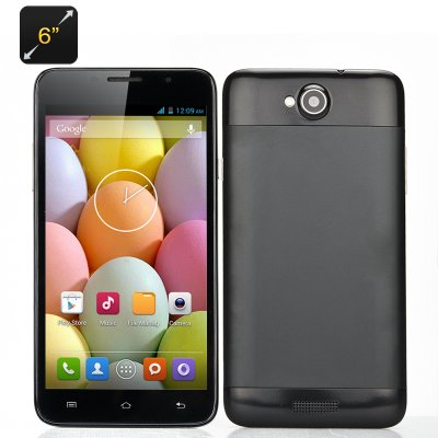 6 Inch Quad Core Smartphone (Black)