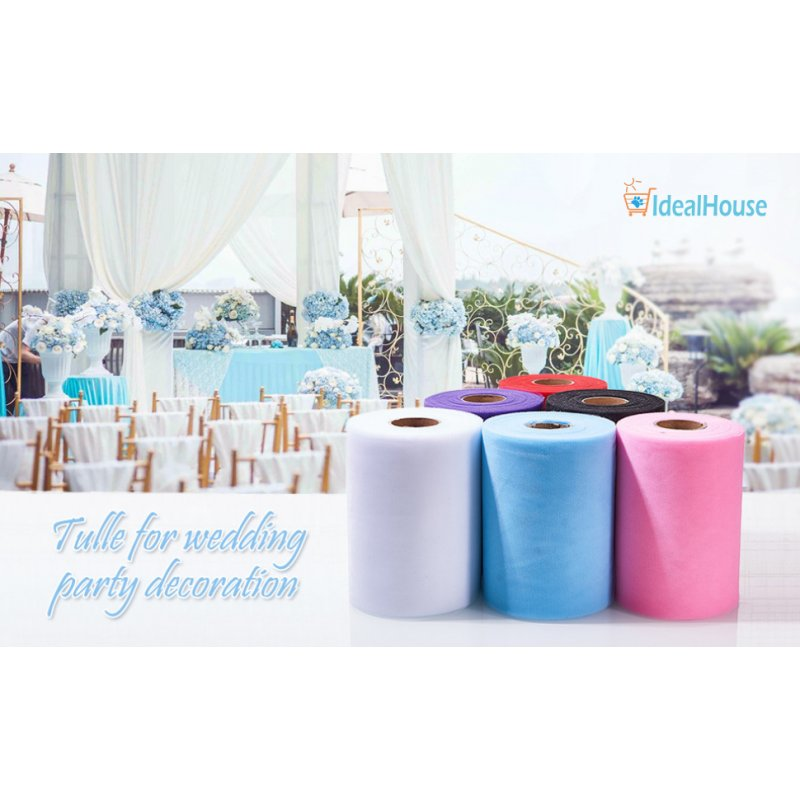 6 Inch x 200 Yards (600FT) Tulle Roll Spool Tutu Skirt Fabric Wedding Party Gift Decor