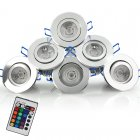 6 LED Spotlights Color Changing 16 colors  Mode Changing  Control Together or Separately  muli purpose