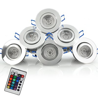 6 Color/Mode Changing LED Spotlight Set