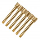 6 Pcs Brass Electric Guitar Tremolo Bridge Saddle Clamp Lock String Screw/String Through Screw/Not Need Insert Block Gold